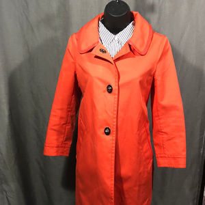 Womens COACH Tangerine Cotton Coat, pre-owned